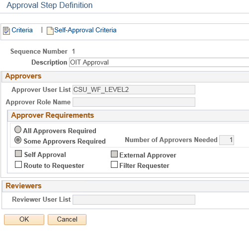 Approval Process Setup