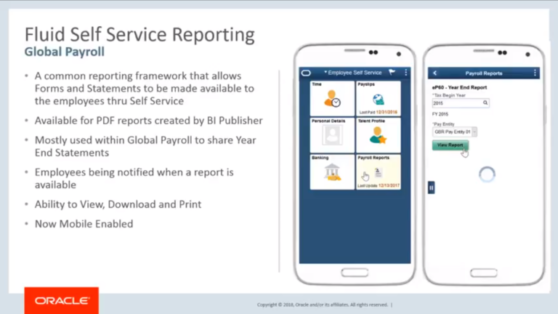 Global Payroll Fluid Self Service Reporting