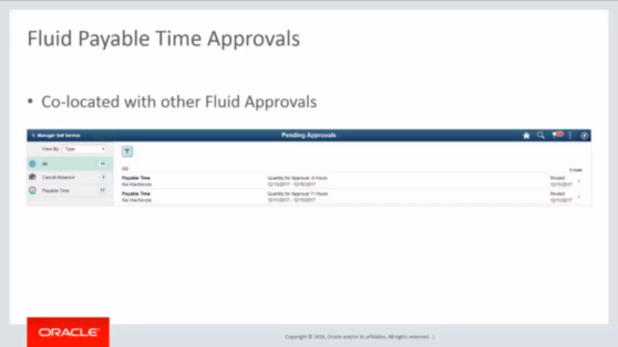 Fluid Time approval page